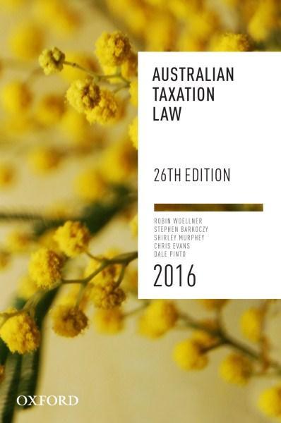 Australian Taxation Law 2016