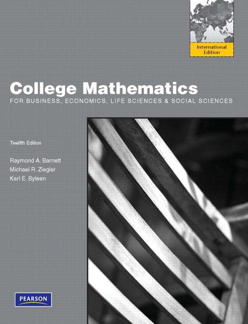 College Mathematics for Business, Economics, Life & Social Sciences  + Introduction to Econometrics