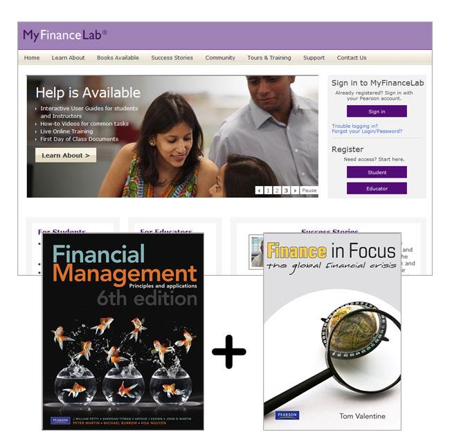 Financial Management 6e + Finance in Focus +  MyFinanceLab  Pack for UniSA