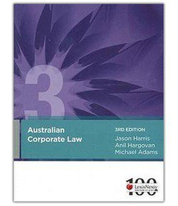 Australian Corporate Law 3ED + Australian Corporations Legislation 2013