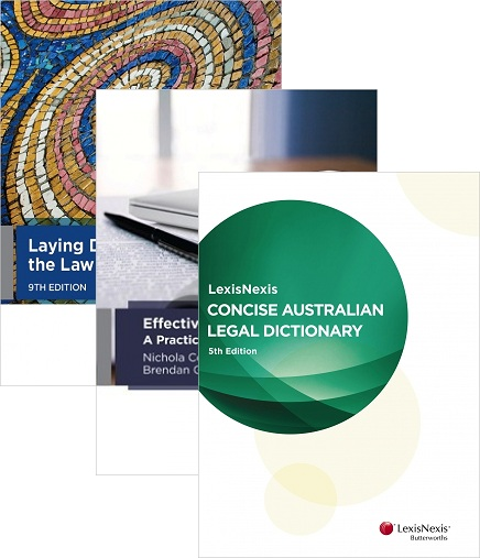 INTRO166 Bundle : Laying Down the Law 9th Edition + Effective Legal Writing + LN Concise Aust. Legal Dictionary 5th Edition