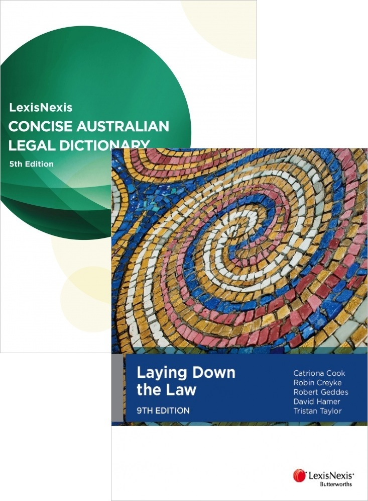 VALUEPACK 2015 : INTRO145 Laying Down the Law 9th / Concise Australian Legal Dictionary 5th