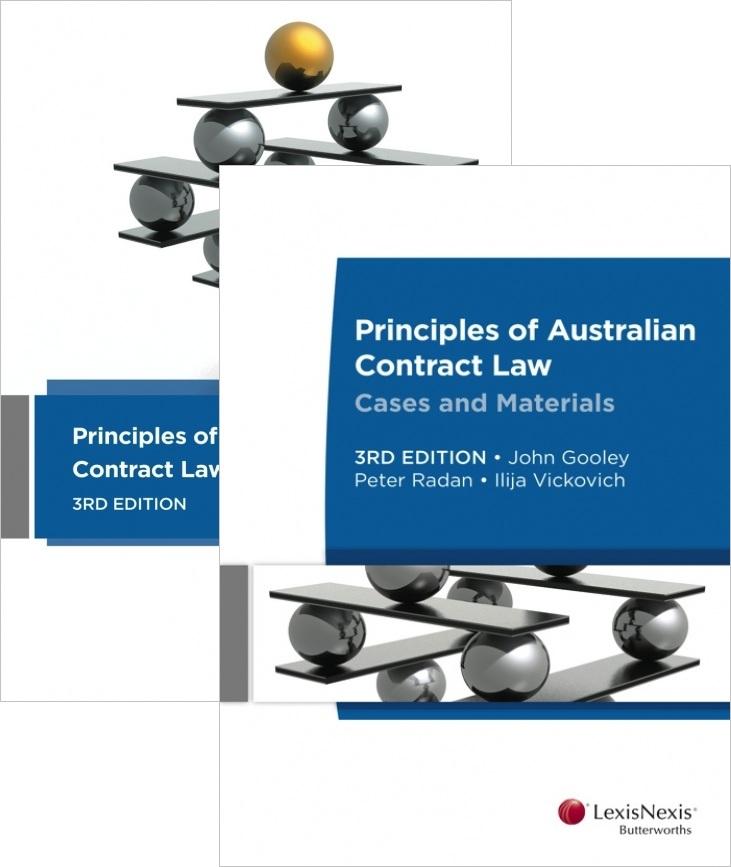Principle Of Australian Contract Law 3E + Principles Of Australian Contract Law Cases & Materials 3E