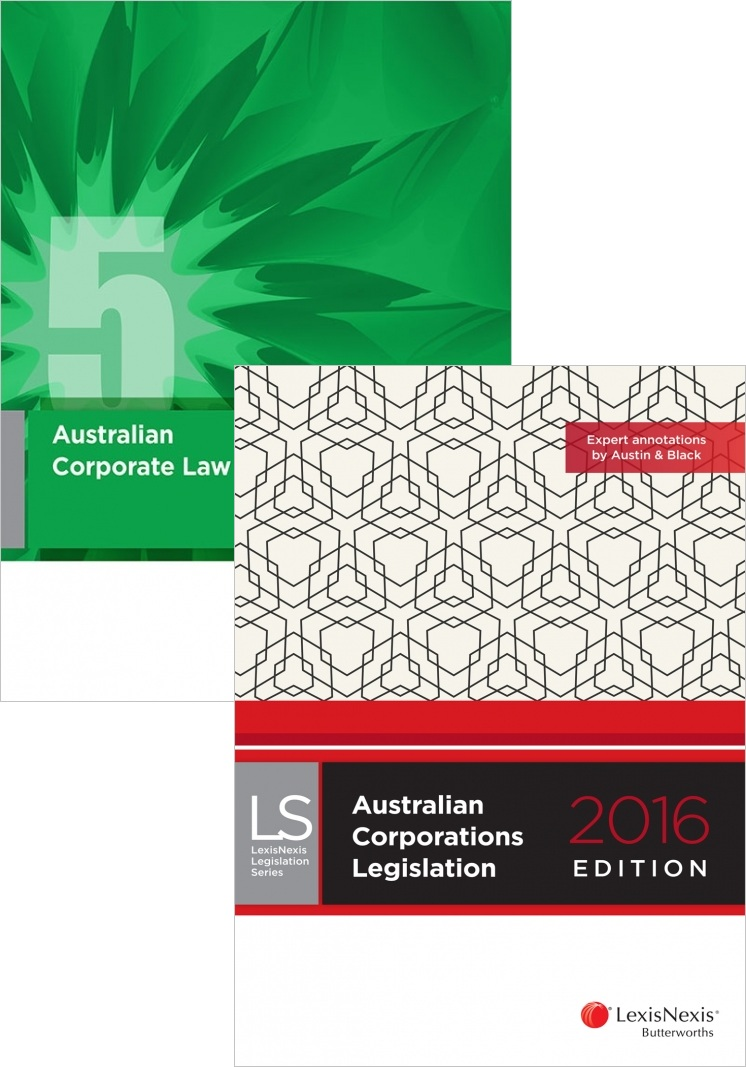 Australian Corporate Law 5ED + Australian Corporations Legislation 2016 Value Pack