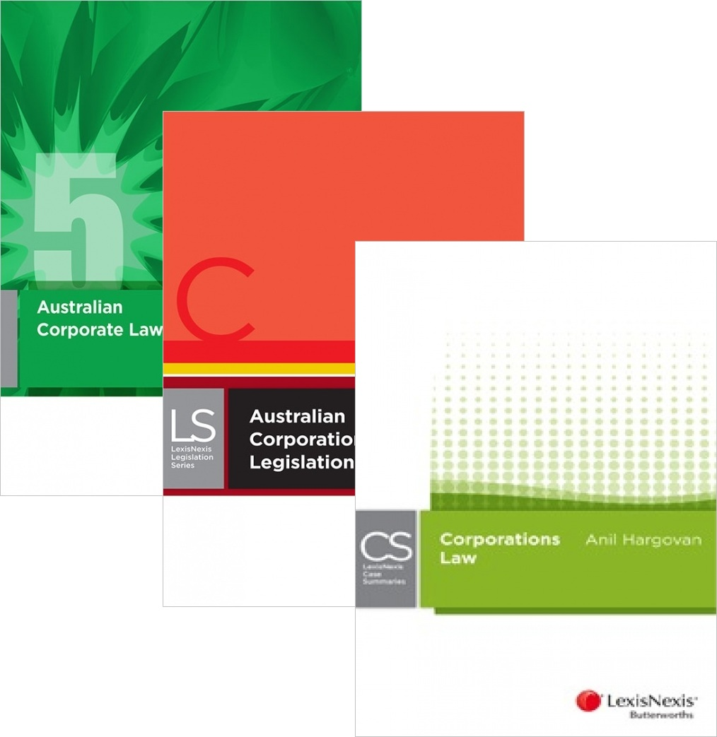 Australian Corporations Law + Corporations Legislation 2016 + LexisNexis Case Summaries Corporations Law