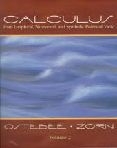 Calculus From Graphical Numerical Analysis Vol 2