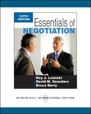 Essentials Of Negotiation 5E