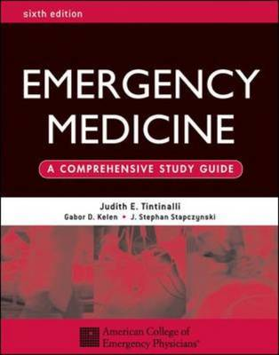 Emergency Medicine: A Comprehensive Study Guide