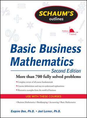 Schaums Outline Of Basic Business Mathematics 2/E Revised
