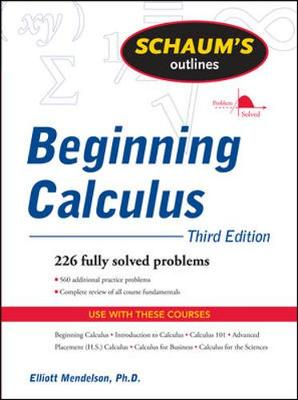 Schaums Outline Of Beginning Calculus 3/E