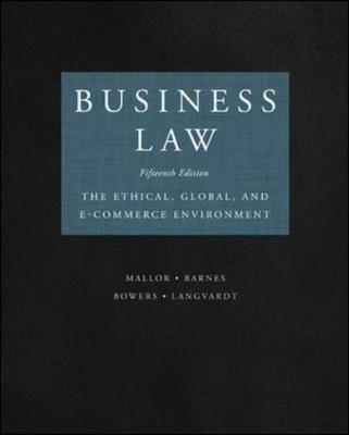 Business Law: The Ethical Global And Ecommerce Environment