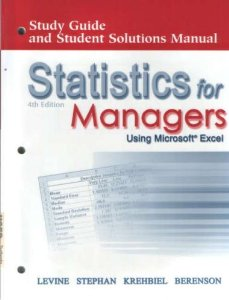 Statistics for Managers Using Excel