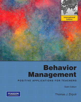 Behavior Management: Positive Applications for Teachers