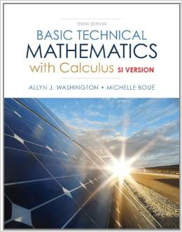 Basic Technical Mathematics with Calculus, SI Version Plus MyMathLab with Pearson eText -- Access Card Package