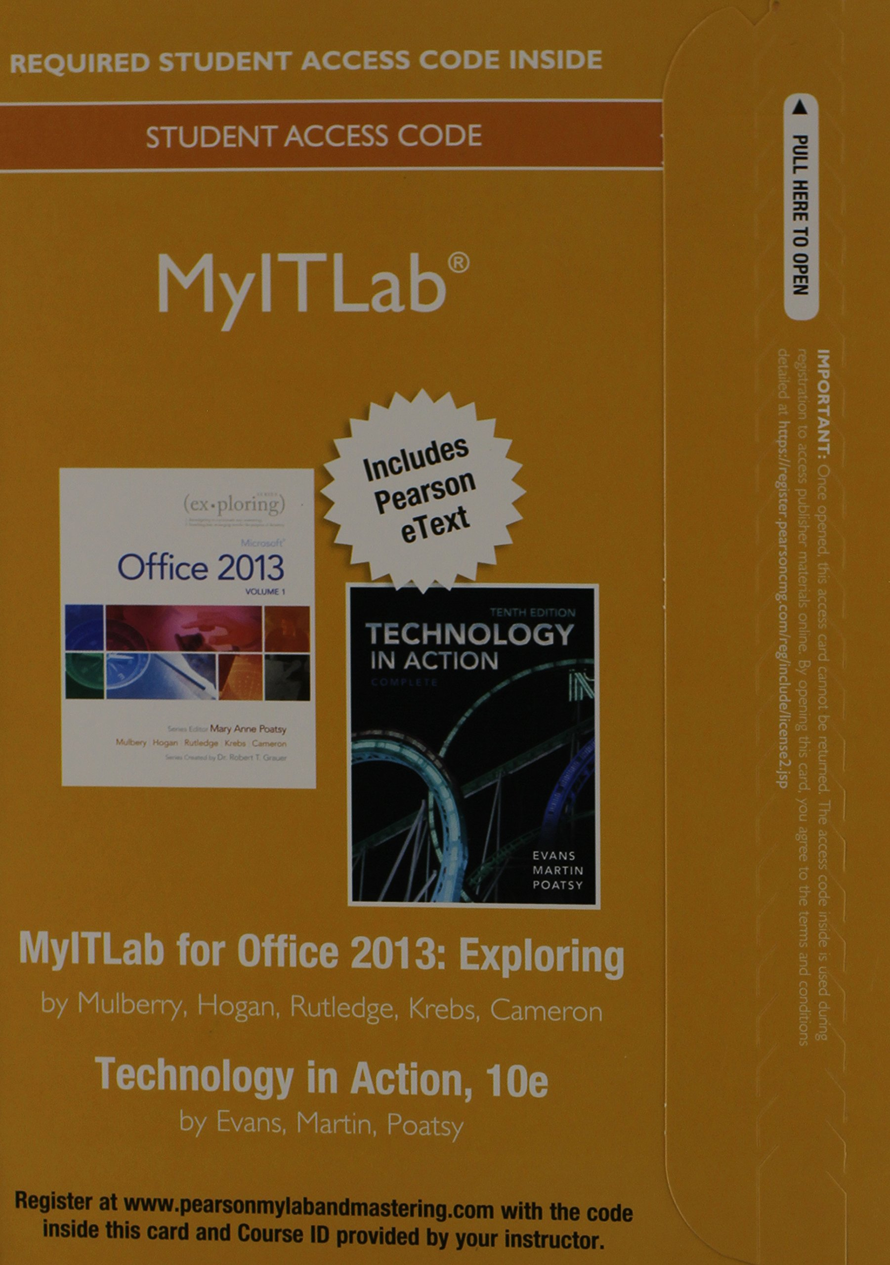 MyITLab with Pearson eText -- Access Card -- For Exploring with Technology in Action