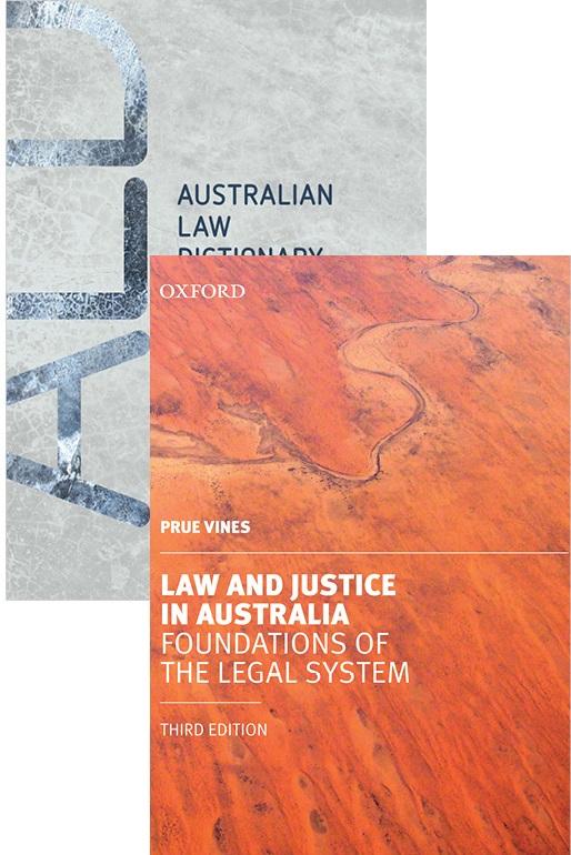 Law and Justice in Australia 3E & Australian Law Dictionary 2E