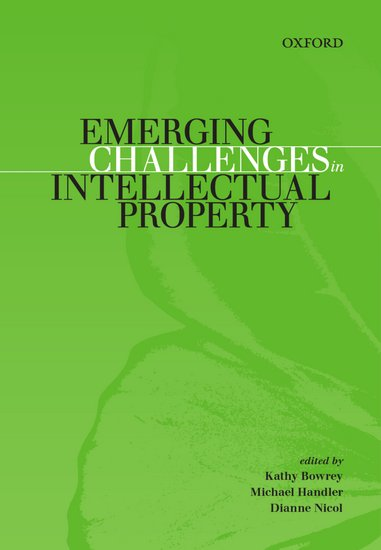 Emerging Challenges In Intellectual Property (VitalSource eBook)