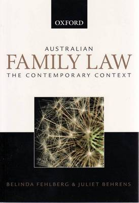 Australian Family Law: the Contemporary Context: Value Pack