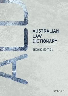 Australian Law Dictionary (VitalSource eBook)