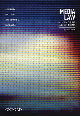 Media Law (VitalSource EBook): Cases, Materials and Commentary