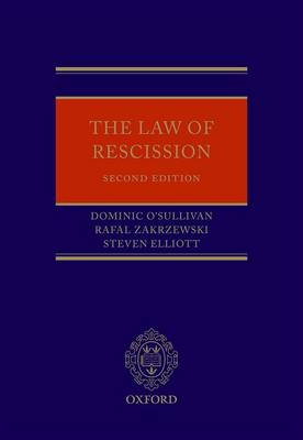 The Law of Rescission