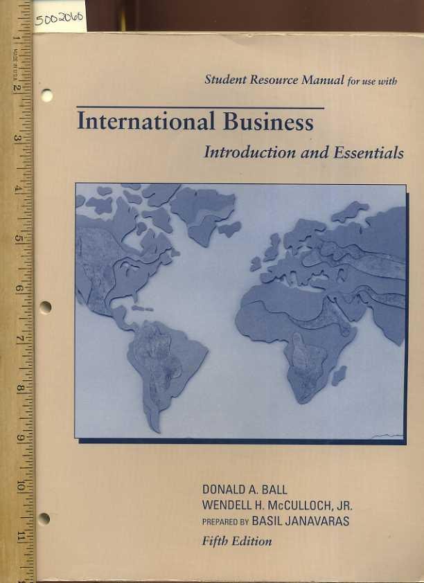 Intl Bus Student Res Manual