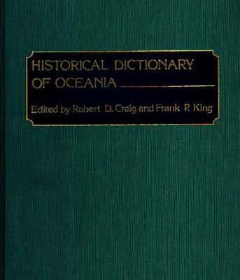 Historical Dictionary of Oceania