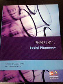 PHAR1821 Social Pharmacy Custom