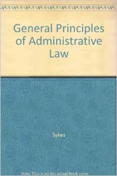 General Principals of Administrative Law