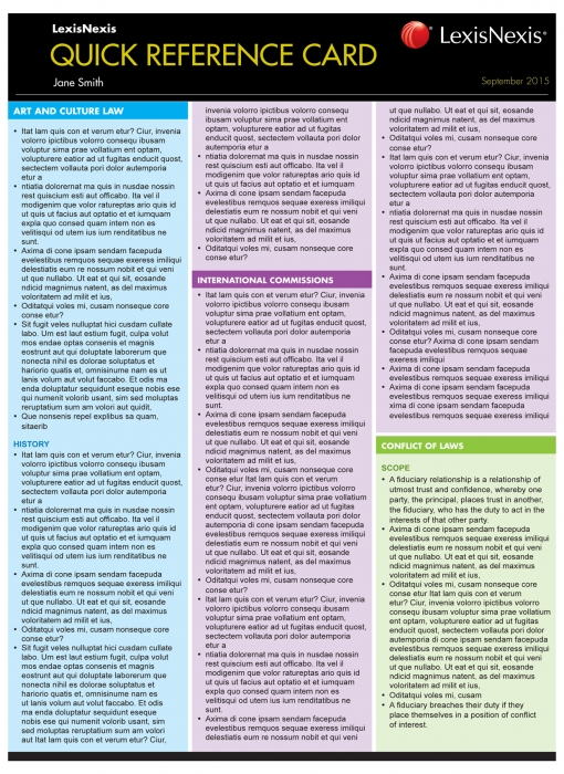 Quick Reference Card: Uniform Evidence Law 2nd Edition