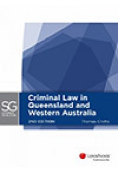 Lexisnexis Study Guide: Criminal Law in Queensland and Western Australia