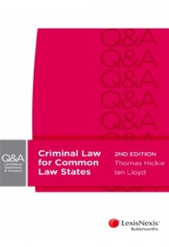 Lexisnexis Questions and Answers - Criminal Law for Common Law States, 2nd Edition