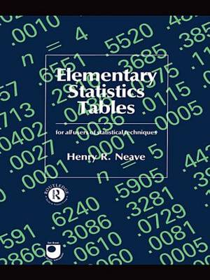 Elementary Statistics Tables