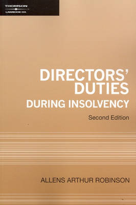 Directors' Duties During Insolvency 2e.