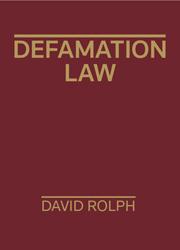 Defamation Law 1e