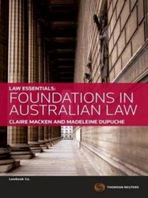 Law Essentials: Foundations in AU Law 1e