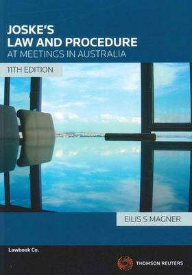 Joske's Law & Procedures at Meetings 11e
