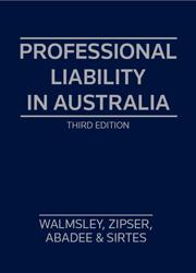 Professional Liability in Aust 3e SC