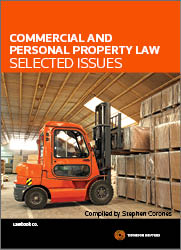 Commercial and Personal Property Law - Selected Issues