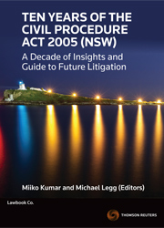 10 Years of the Civil Pro Act 2005 (NSW)