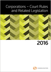 Corps Court Rules & Related Leg 2016
