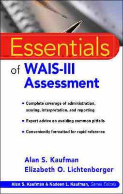 Essentials of WAIS-III Assessment