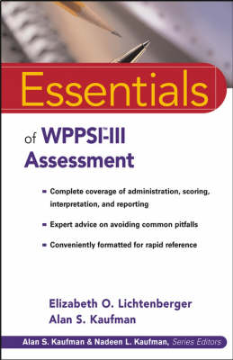 Essentials of WPPSI-III Assessment