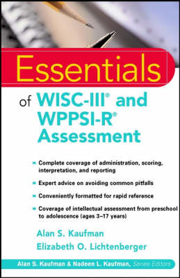 Essentials of WISC-III and WPPSI-R Assessment