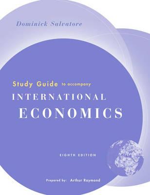 International Economics: Study Guide