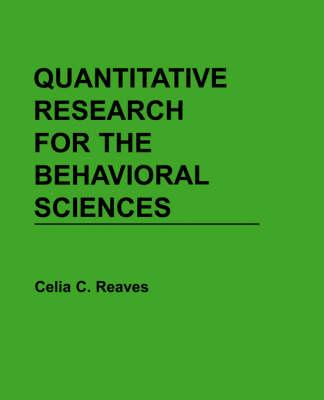 Quantitative Research for the Behavioural Sciences