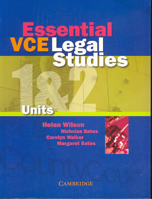 Essential VCE Legal Studies Units 1and 2