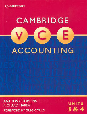 Cambridge VCE Accounting Units 3 and 4: Units 3&4