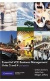 Essential VCE Business Management Units 3 and 4 with CD-ROM: Units 3 and 4