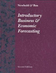 Intro To Business & Economic Forecasting 2ed
